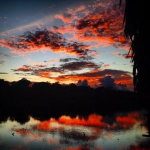 Amazon sunset Envoys Colombia