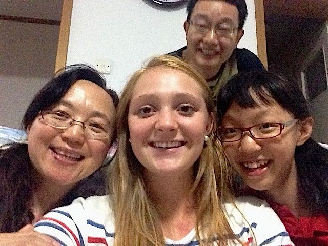 Ceci Swenson with her home stay family