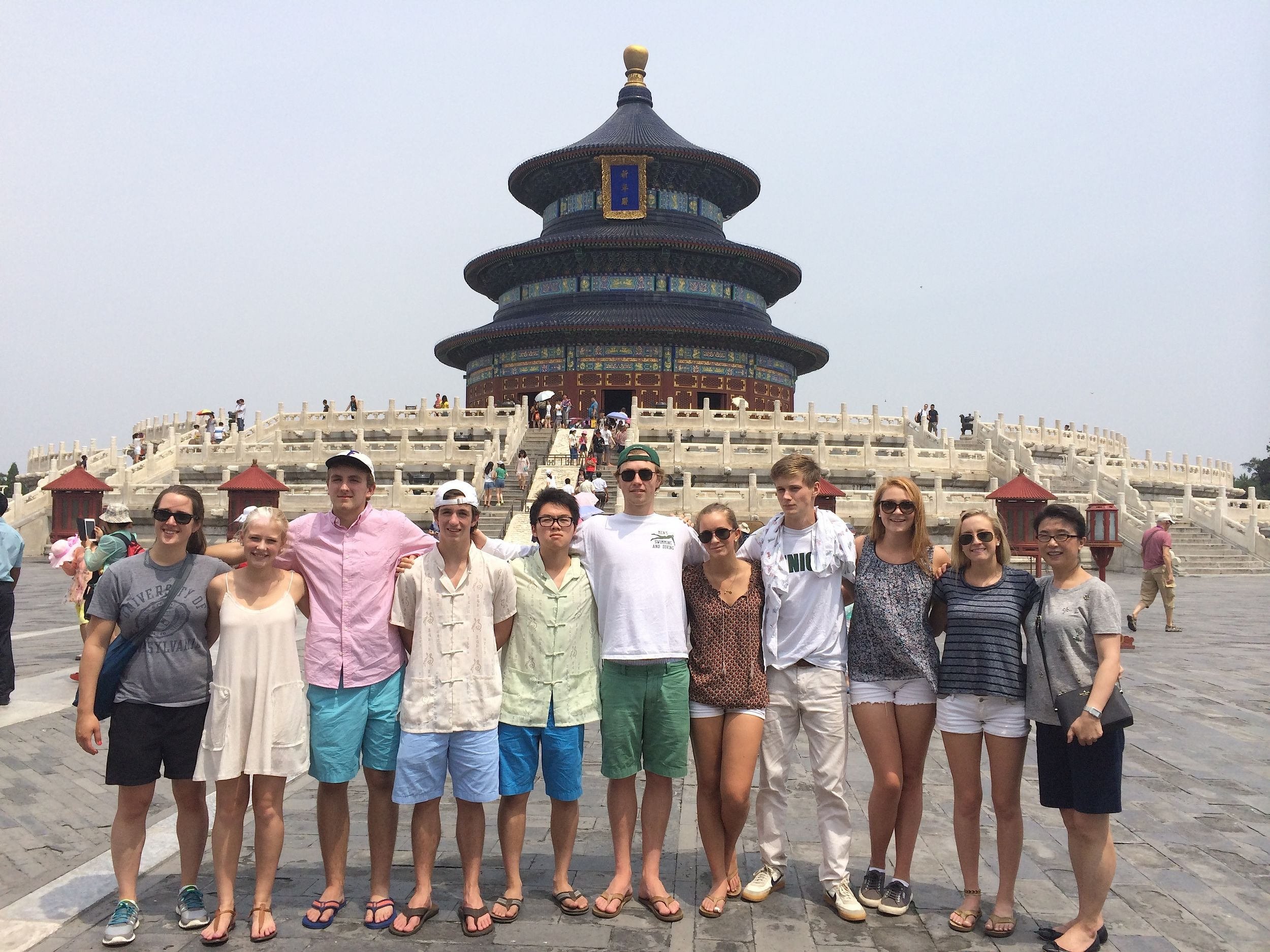 Group at Temple of Heaven China