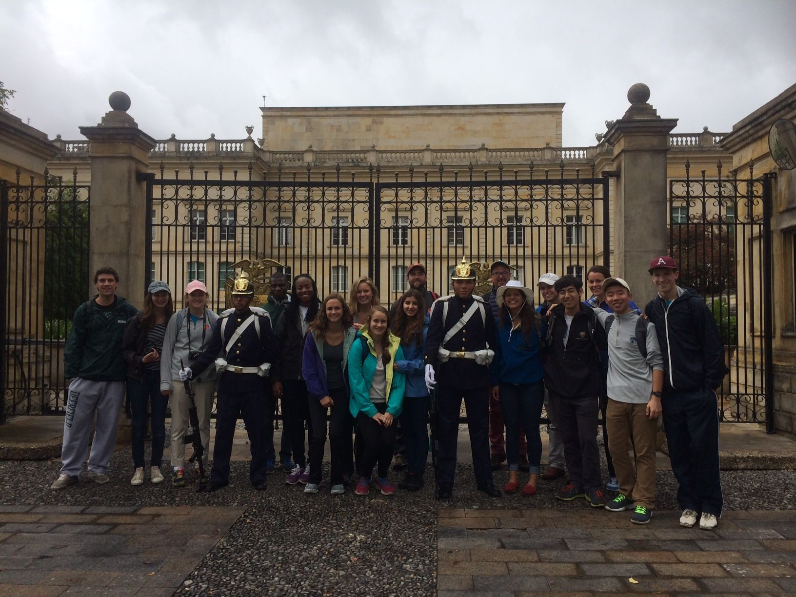 Group in front of museum Bogota Day 1