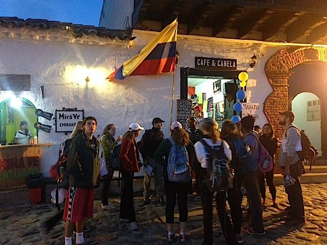 Group outside Restaruant Day 2 Colombia
