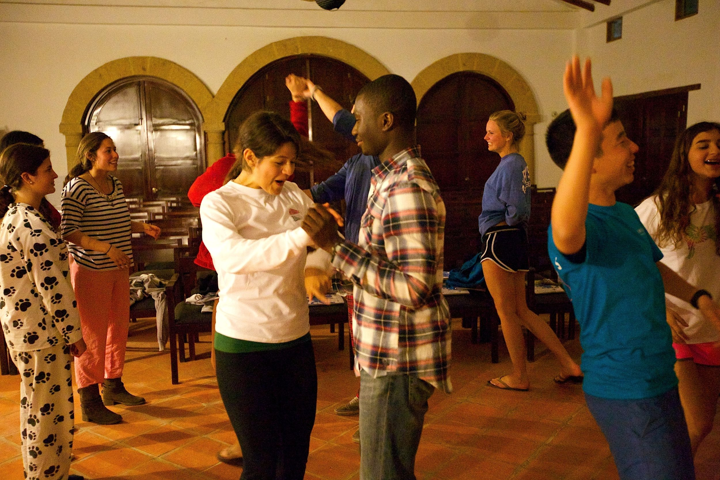 Megan and Kofi dance Colombia