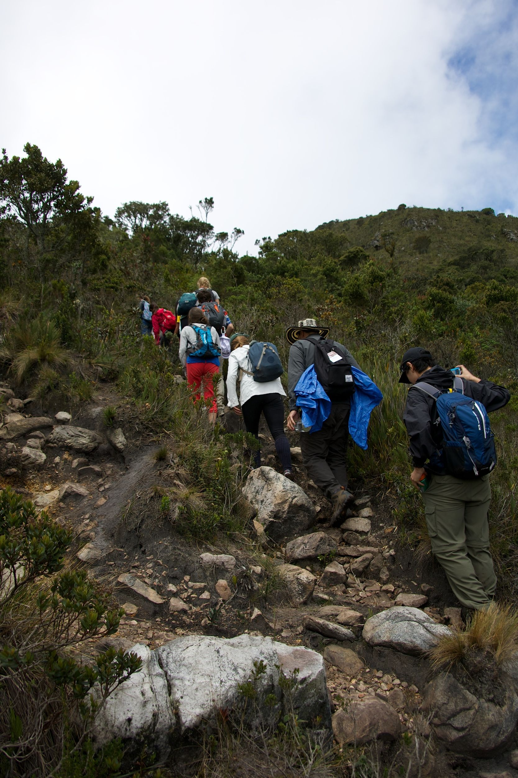 Students Hiking Colombia