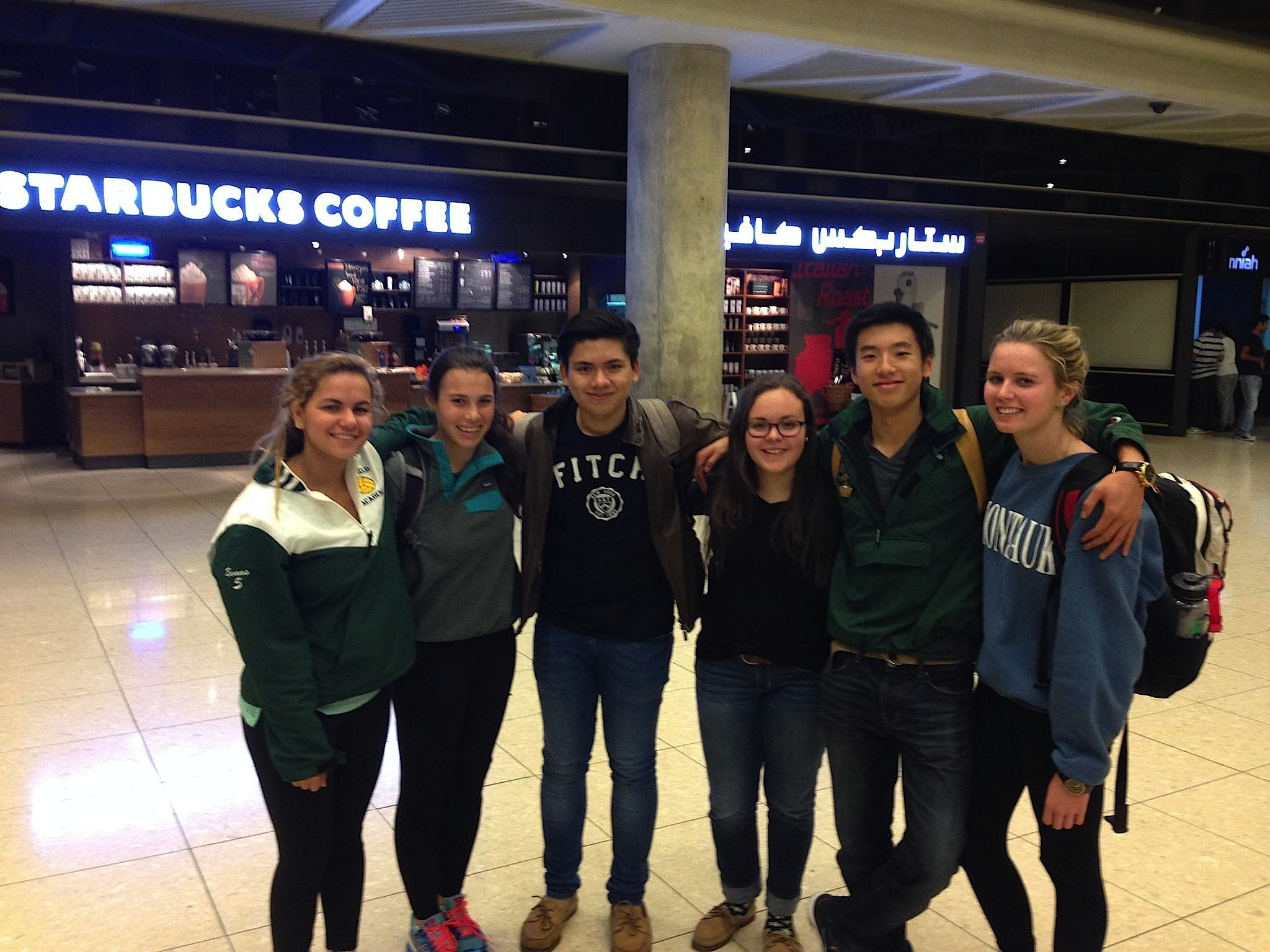 The delegates  in the Amman Airport -- still smiling after nearly 24 hours of travel!