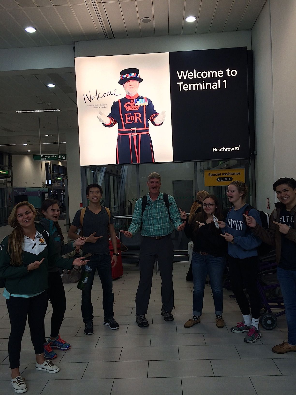 Mr. Finan and the delegates make the most of their layover!