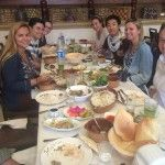 The group enjoys lunch at a Lebanese restaurant in Jerash. Photo Credit: David Miller