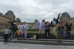 Group Jumping for Joy at Louvre AL France 2016