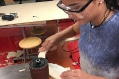 70-ellie-uses-oscillating-spindle-sander-to-smooth-curves-and-sand-rib-piece