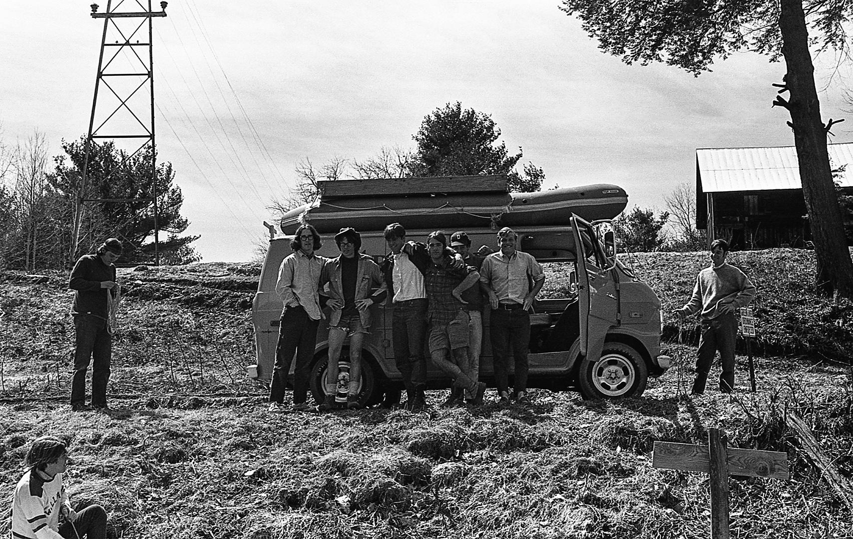 Van and crew